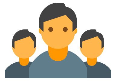 Vectorized picture of people representing job seekers